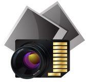Icono de la tarjeta de memoria Ilustración del Vector