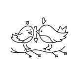 Icono de la tarjeta del día de San Valentín del St Imagen de archivo libre de regalías