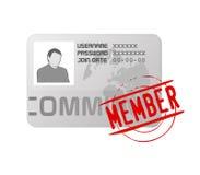 Icono de la tarjeta del perfil de la calidad de miembro del vector Fotografía de archivo libre de regalías