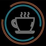 Icono de la taza de café, taza de café, café express caliente de la bebida libre illustration