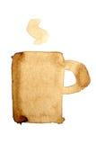 Icono de la taza de café Imagen de archivo libre de regalías