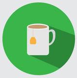 Icono de la taza de té Foto de archivo