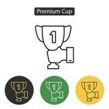 Icono de la taza del trofeo stock de ilustración