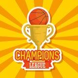 Icono de la taza del trofeo del deporte del baloncesto ilustración del vector