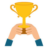Icono de la taza del trofeo Diseño del ganador Gráfico de vector stock de ilustración
