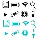 Icono de la tecnología completamente monocromático Foto de archivo