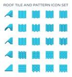 Icono de la teja de tejado Imagenes de archivo