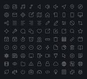 Icono de la tienda de los apps del vector del esquema Fotografía de archivo