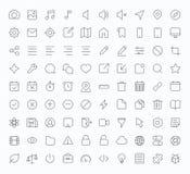 Icono de la tienda de los apps del vector del esquema Imagen de archivo libre de regalías
