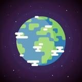 Icono de la tierra del planeta Fotos de archivo libres de regalías