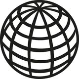 Icono de la tierra del planeta del globo ilustración del vector