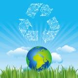 icono de la tierra y del ambiente libre illustration