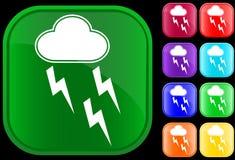 Icono de la tormenta Imagenes de archivo