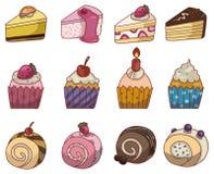Icono de la torta de la historieta Imagen de archivo