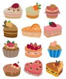 Icono de la torta de la historieta Imagen de archivo libre de regalías