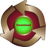 Icono de la transferencia directa Imagenes de archivo