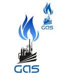 Icono de la transformación industrial del gas natural Imagen de archivo libre de regalías