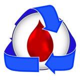 Icono de la transfusión de sangre Imágenes de archivo libres de regalías