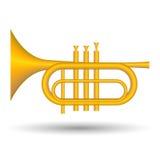 Icono de la trompeta Fotografía de archivo libre de regalías