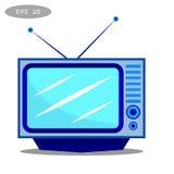 Icono de la TV - vector Imagen de archivo libre de regalías