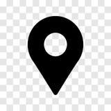 Icono de la ubicación del Pin - diseño icónico del vector