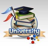 Icono de la universidad Imágenes de archivo libres de regalías
