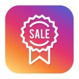 Icono de la venta con el botón del inconformista Botón de las compras Símbolo de la tienda Fotos de archivo libres de regalías