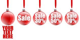 Icono de la venta de la Navidad Fotografía de archivo