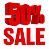 Icono de la venta el 50% Fotos de archivo