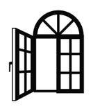 Icono de la ventana stock de ilustración