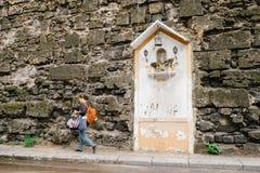 Icono de la Virgen María Fotografía de archivo