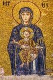 Icono de la Virgen María en el interior del Hagia Sophia en Estambul, Imagen de archivo libre de regalías