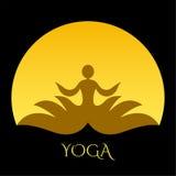 Icono de la yoga Fotos de archivo libres de regalías