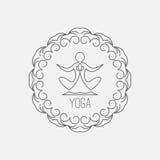 Icono de la yoga Imágenes de archivo libres de regalías