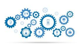 icono de las actividades bancarias en l?nea del smartphone De sistema m?vil del concepto ilustración del vector