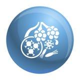 Icono de las bacterias del virus, estilo simple libre illustration