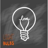 Icono de las bombillas Concepto de inspiración grande de las ideas, innovación, Imagen de archivo