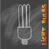 Icono de las bombillas Concepto de inspiración grande de las ideas, innovación, Imagenes de archivo