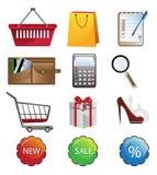 Icono de las compras Imagenes de archivo