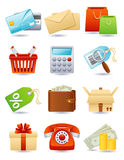 Icono de las compras Fotos de archivo libres de regalías