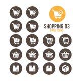 Icono de las compras Ilustración del vector Imagenes de archivo