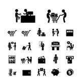 Icono de las compras y de la entrega Fotografía de archivo libre de regalías
