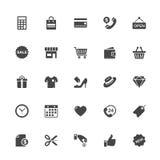 Icono de las compras y del comercio en Whit Background Imagen de archivo libre de regalías
