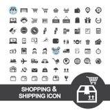 Icono de las compras y del envío foto de archivo libre de regalías