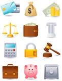 Icono de las finanzas Fotografía de archivo libre de regalías