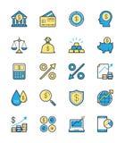 Icono de las finanzas del negocio, color monocromático - Vector el ejemplo ilustración del vector