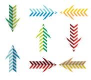 Icono de las flechas Foto de archivo