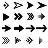 Icono de las flechas del negro de la colección Vector del icono de la flecha ilustración del vector