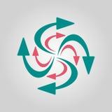 Icono de las flechas que remolina Fotografía de archivo libre de regalías