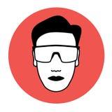 Icono de las gafas protectoras Fotos de archivo libres de regalías